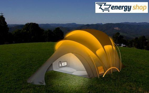 Energia Solar em Barraca de Camping